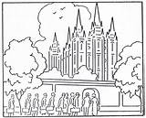 Lds Coloring Temple Pages Mormon Printable Getcolorings sketch template