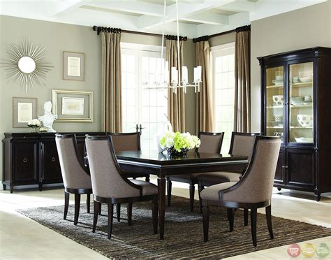 Classics Contemporary Brindle Finish Formal Dining Set