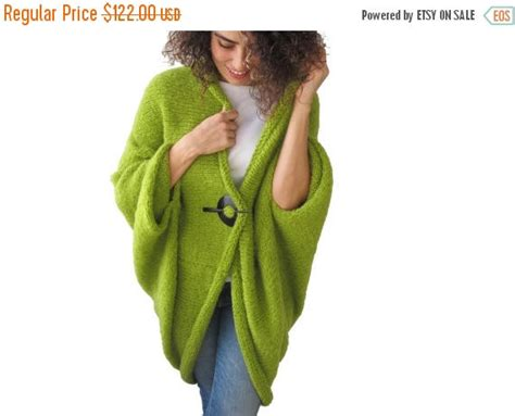 50% Clearence May Green Plus Size Oversize Overcoat Poncho Pelerine Cardigan #2686908