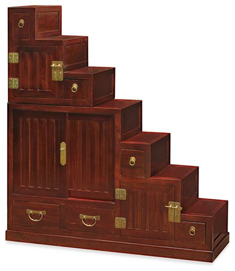Korean Bedroom Furniture by Japanese Style Step Tansu Asian Accent Chests And