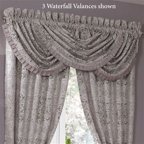 Waterfall Valance Curtain Set by Nomad Medallion Waterfall Valance By Croscill