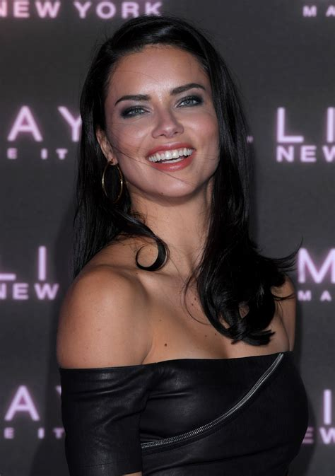 adriana lima maybelline bring   night party