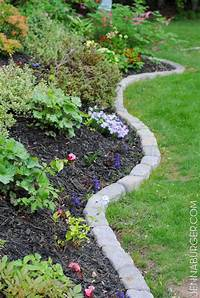 flower bed edging The Perfect Border for Your Beds: Defining a Garden's Edge With Stone | outdoor ideas | Flower ...