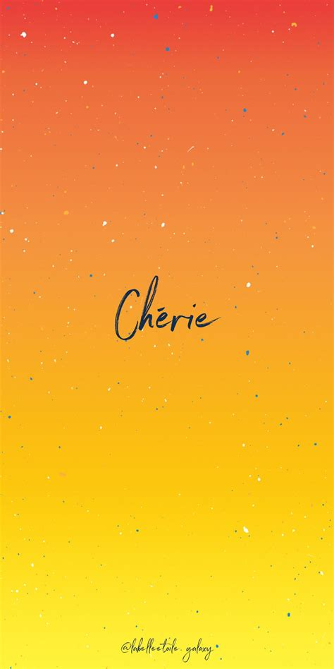 Chérie Sweetheart - Bonjour You are in the right pace to ...