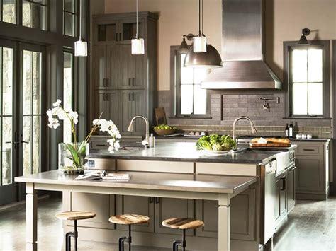 ilot dans cuisine amazing cuisine avec lot central moderne et deux viers