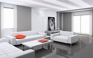 Salon Gris Blanc : 41 photos qui vont vous pr senter le carrelage brillant ~ Dallasstarsshop.com Idées de Décoration