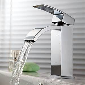 waterfall kitchen faucet contemporary waterfall bathroom sink faucet chrome