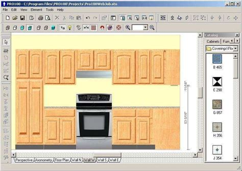 free software for kitchen design free cabinet drawing software freeware cabinets matttroy 6705