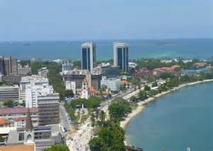 kitchen with two islands apartment for sale in the pspf tower sokoine drive dar es