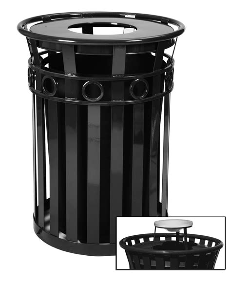 stainless steel containers 40 gallon oakley decorative outdoor steel trash cans