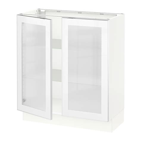 kitchen base cabinets with glass doors ikea cabinet with frosted glass nazarm com