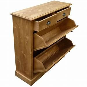 Meuble Pin Pas Cher : meuble chaussures en pin massif cir miel bois achat vente commode pas cher couleur et ~ Teatrodelosmanantiales.com Idées de Décoration
