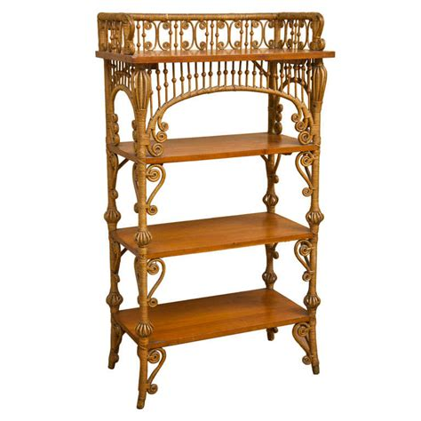 Antique Victorian Wicker Bookcase At 1stdibs