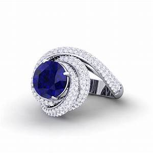 blue sapphire ij si diamonds gemstone engagement ring With sapphire wedding rings for women