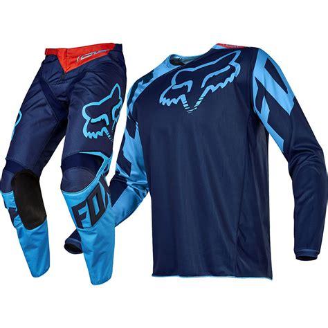 motocross racing gear fox racing 2017 mx new 180 race navy blue jersey pants