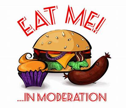 Moderation Clipart Eat Eating Nutrition Cliparts Key