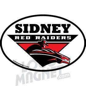 sidney federation wrestling club red raiders logo horse