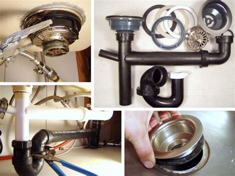 remove fix  kitchen sink drain mobile home repair