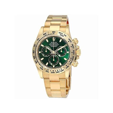 Rolex Cosmograph Daytona Green Dial 18K Yellow Gold Oyster ...