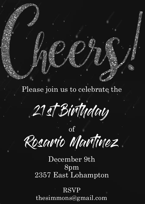 21st Birthday Party invitations NEW selections Summer 2020
