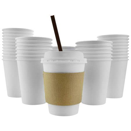 Our insulated paper cups for hot drinks can be custom printed in bulk for you! 100 Pack - 12 Oz 8, 16, 20 Available Disposable Hot ...