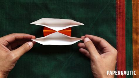 How To Make A Paper Double Boat by How To Make An Easy Double Hulled Paper Boat Video