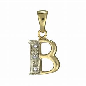 9ct gold and diamond alphabet b charm sayerslondoncom With gold letter b charm