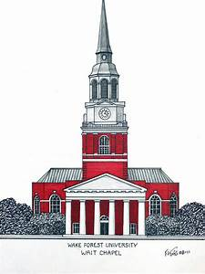 Wake Forest Drawing by Frederic Kohli