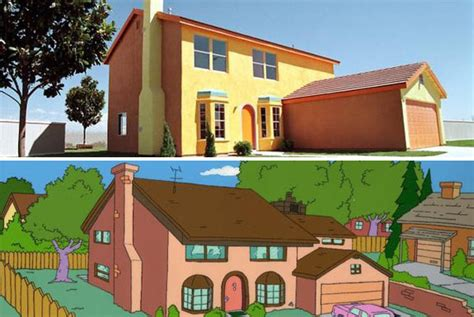 Casa Dei Reale by What Would The Simpsons House Look Like If It Were Real