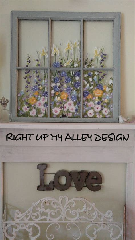 Old window pane wall decor. 158 best OLD PAINTED WINDOWS By RIGHT UP MY ALLEY DESIGNS images on Pinterest