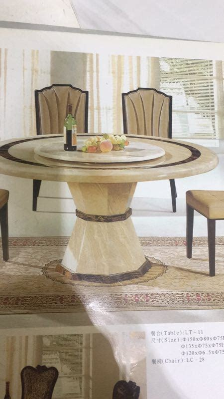melisa  marble dining table  lazy susan fortune
