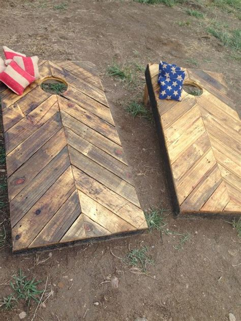 rustic corn hole boards   reclaimed wood diy