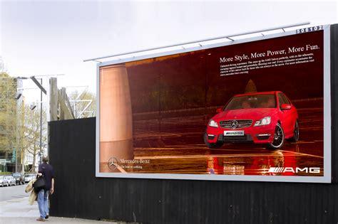 mercedes benz amg billboard campaign  darren woolway