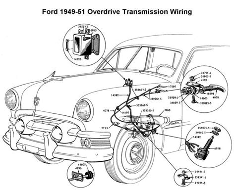 1950 Shoebox Ford Headlight Switch Wiring Diagram by Wiring Diagram For 1949 51 Ford Od Wiring