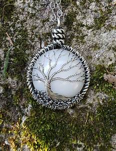 Breastmilk And Solid Silver Wire Tree Of Life By Doreen