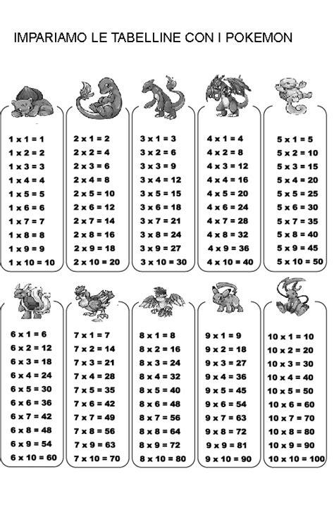 impariamo le tabelline   pokemon mamma  casalinga