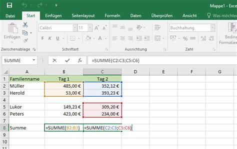 Welche Mücken Summen by Summe In Excel Berechnen So Geht S