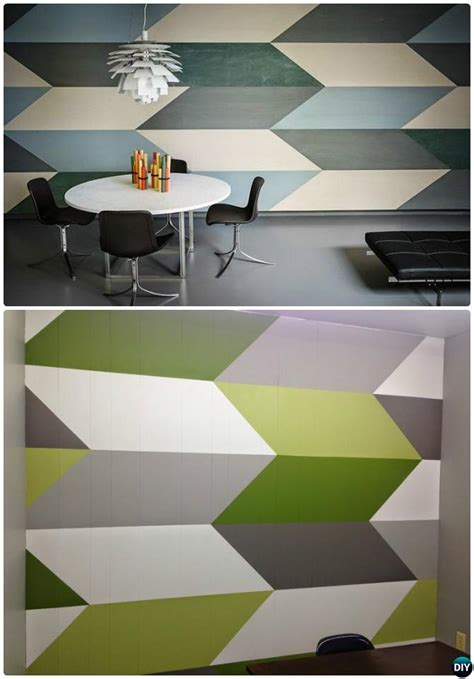 geometric wall design diy patterned wall painting ideas and techniques picture