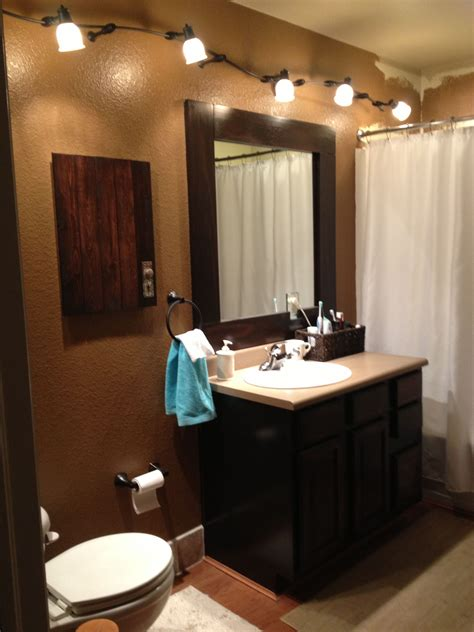 bathroom track lighting ideas java gel stain oak cabinets with a java trimmed