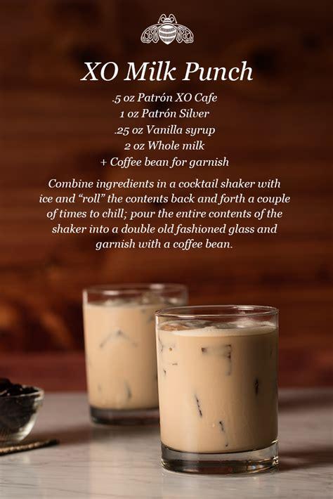 Pour in the pineapple juice. XO Milk Punch   Recipe   Alcoholic desserts, Patron xo ...