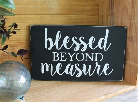 blessed  measure hand painted wood sign family love
