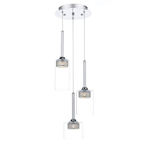 led glass pendant lights contemporary 3 light led ceiling cluster pendant double