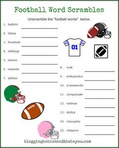 Football Word Search Printable for Kids