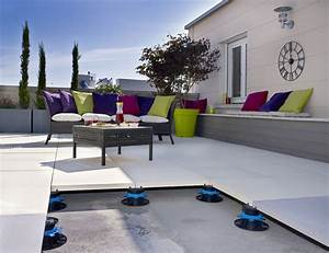 Terrasse Carrelage Sur Plot : terrasse design dalle ~ Dailycaller-alerts.com Idées de Décoration