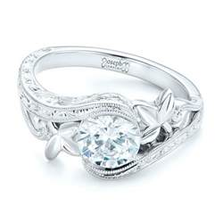 organic engagement rings organic leaf solitaire engagement ring 102580