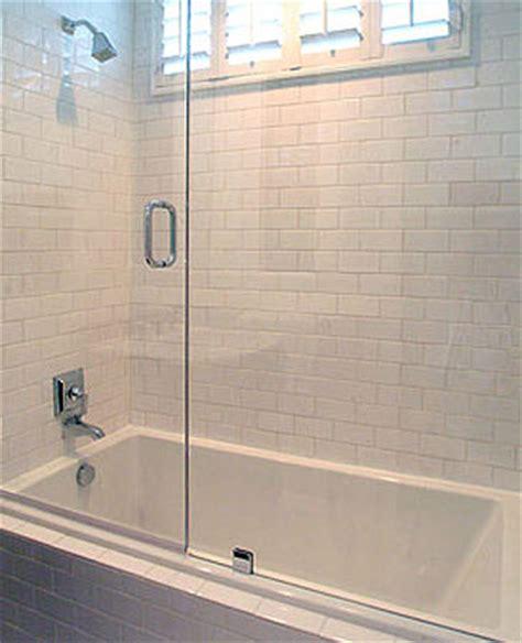drop in tub shower doors design ideas