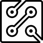 Circuit Icon Icons Industry Vector Svg Ico