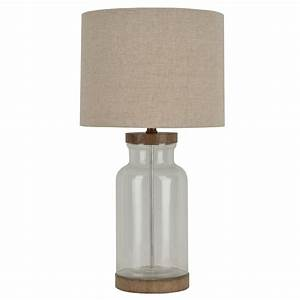 shop allen roth edensley 2525 in glass with saddle plug With table lamp no plug