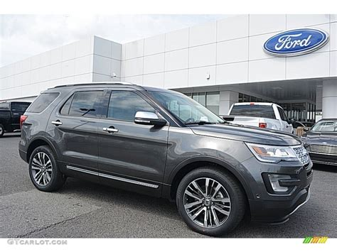 2016 Magnetic Metallic Ford Explorer Platinum 4wd