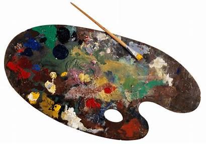 Paint Transparent Palette Clipart Paintbrush Pallette Objects